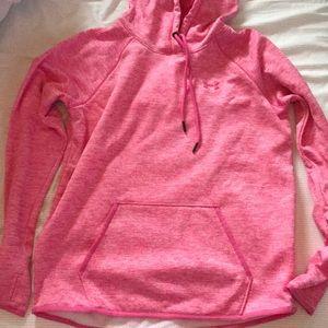 pink under armour sweatshirt !